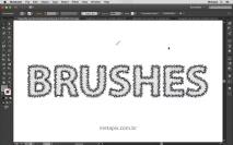 Tipografia com Pincéis 02 - Scatter Brush