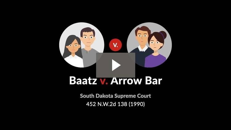 Baatz v. Arrow Bar