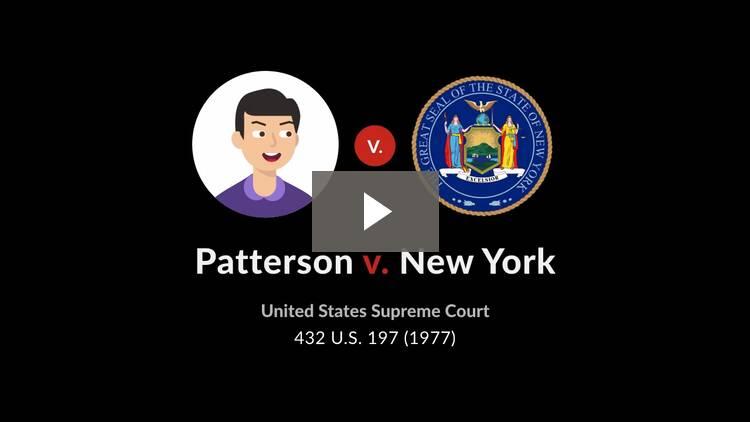 Patterson v. New York
