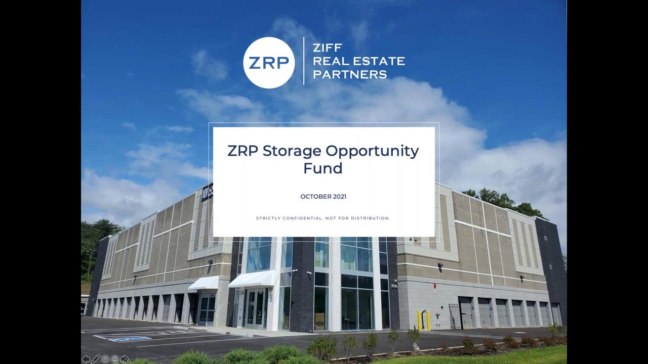 Investment Video - ZRP Storage Opportunity Fund