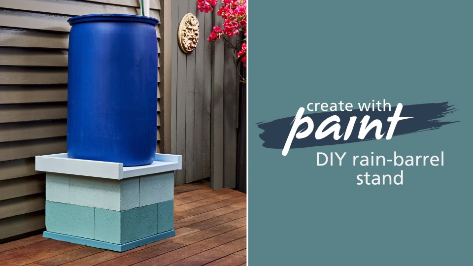 Habitat TV Video: DIY rain-barrel stand