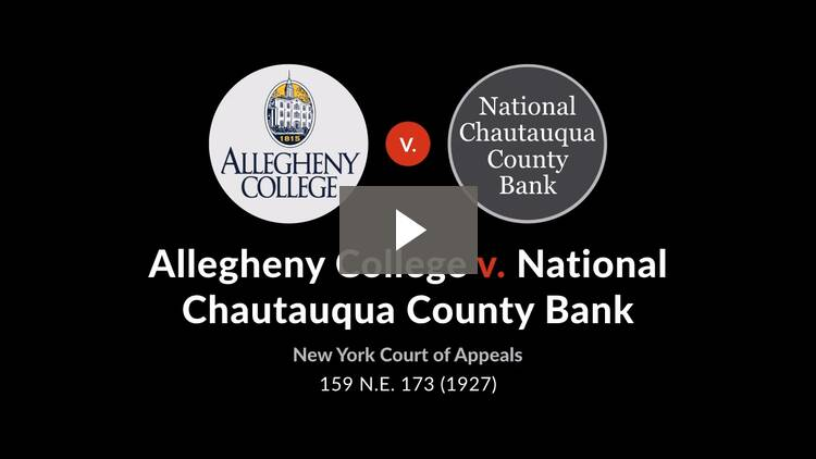 Allegheny College v. National Chautauqua County Bank