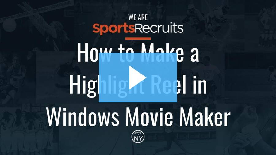 how to make a highlight video with windows movie maker