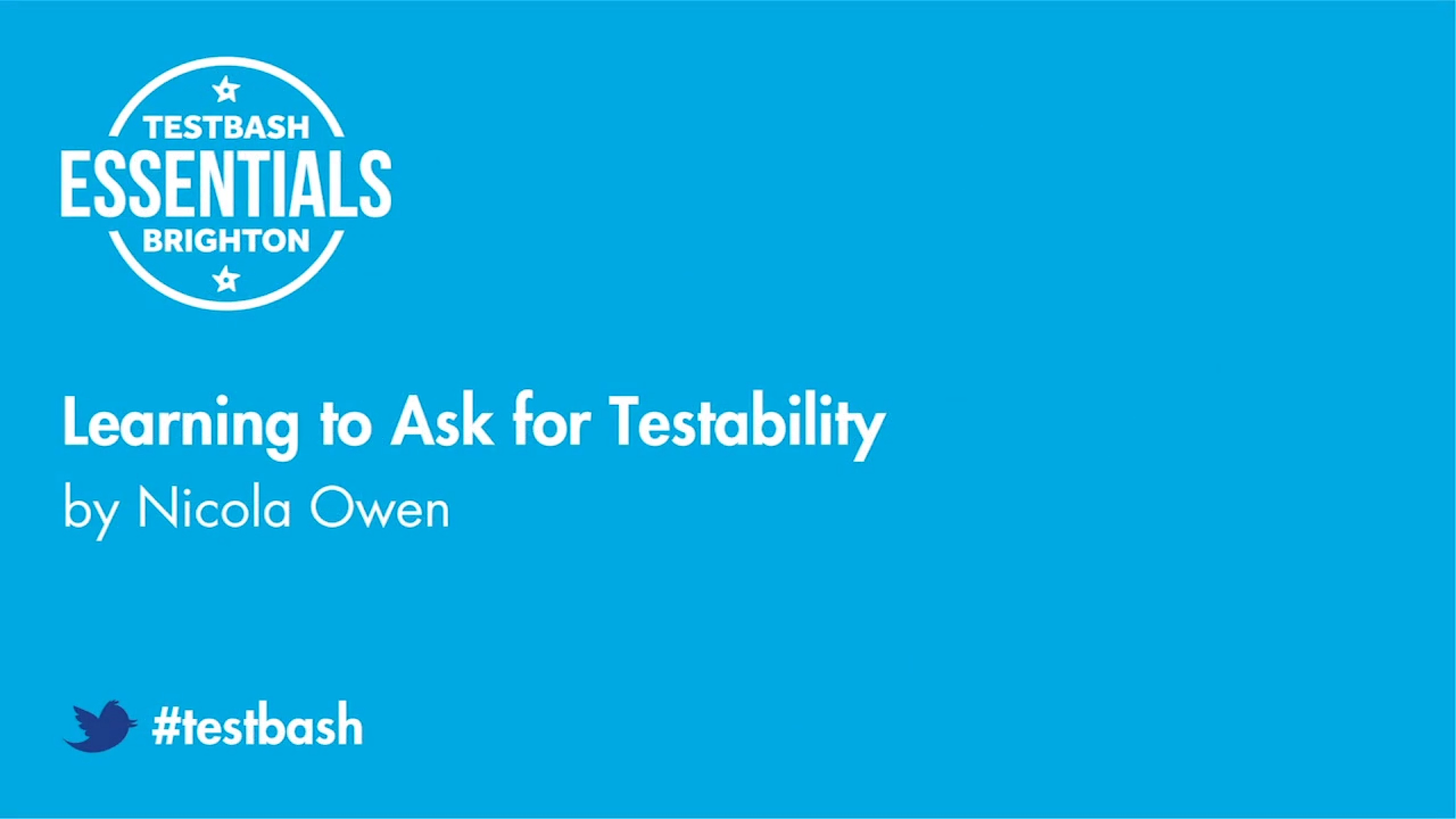 Learning to Ask for Testability - Nicola Owen