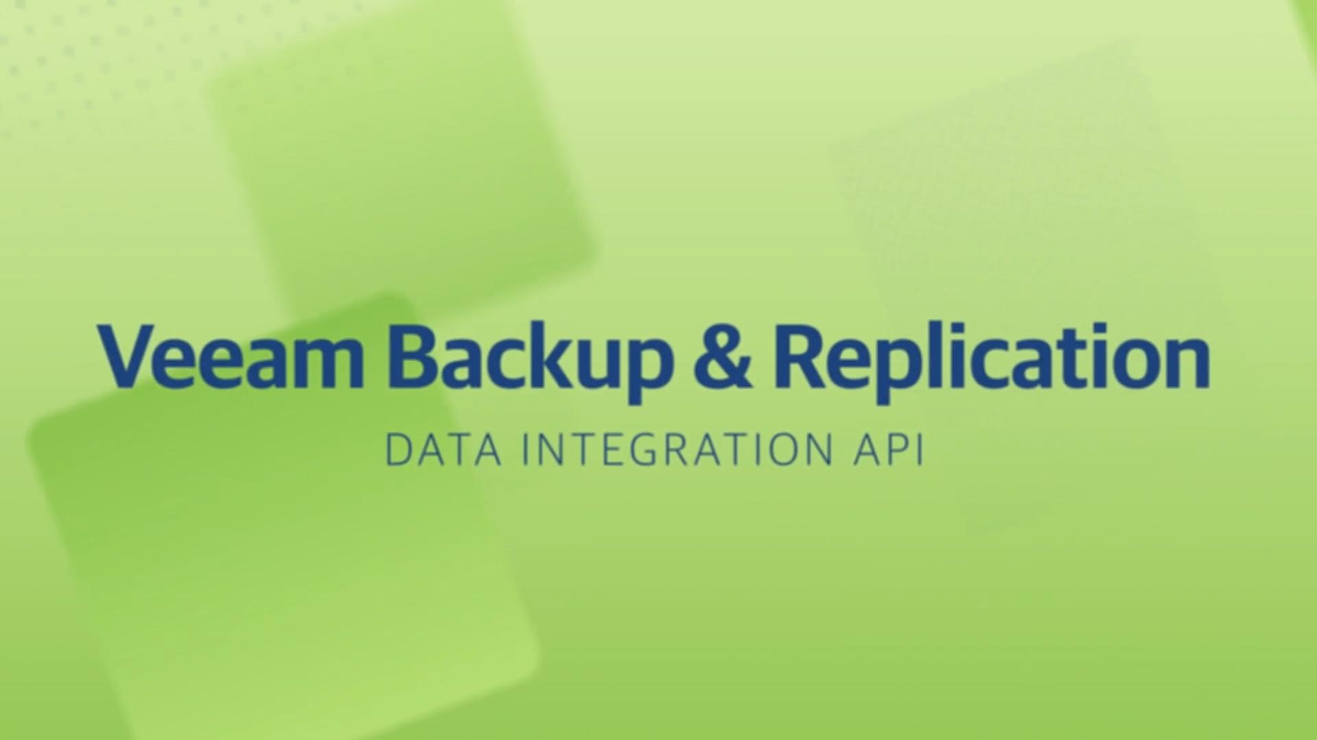 Product launch v11 - VBR - Data Integration API