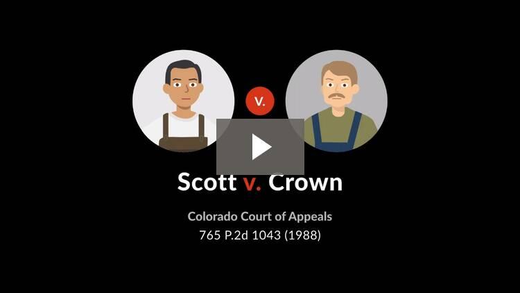 Scott v. Crown