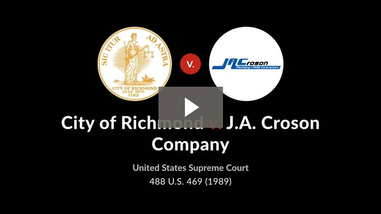 Richmond v. J.A. Croson Co.