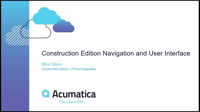 Construction Edition Navigation and User Interface