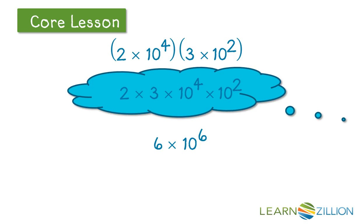 Multiply numbers in scientific notation | LearnZillion