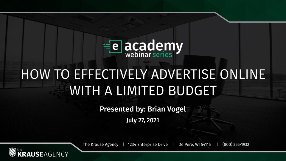 How To Effectively Advertise Online With a Limited Budget