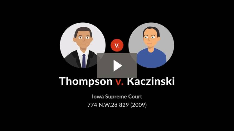 Thompson v. Kaczinski