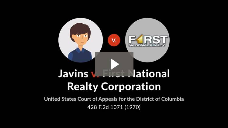 Javins v. First National Realty Corp.
