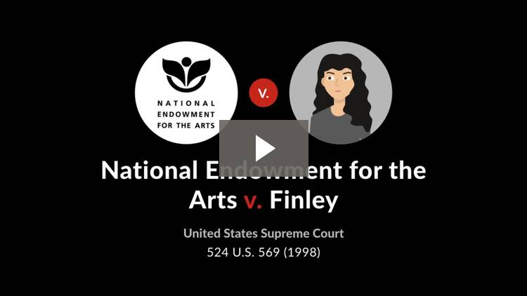National Endowment for the Arts v. Finley