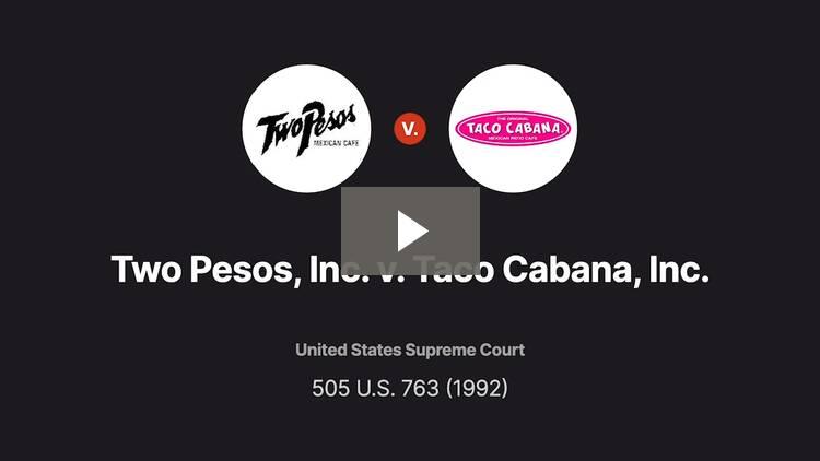 Two Pesos, Inc. v. Taco Cabana, Inc.