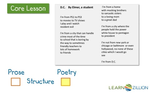 Lesson video for distinguishing poetry from prose learnzillion tap for sound ccuart