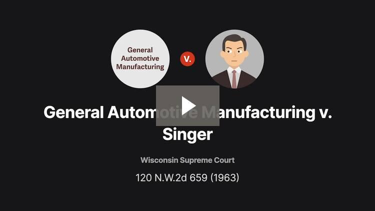 General Automotive Manufacturing Co. v. Singer