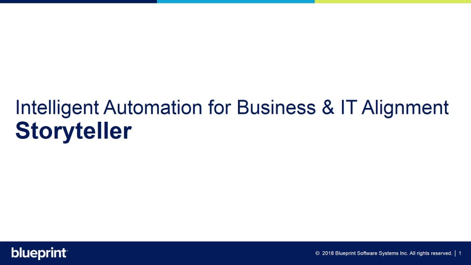 Automate business it alignment with storyteller malvernweather Images