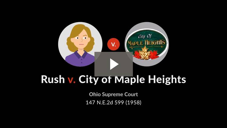 Rush v. City of Maple Heights