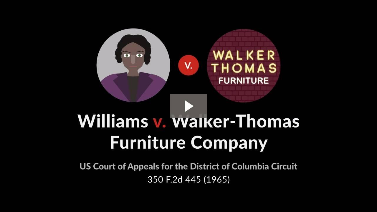 Williams v. Walker-Thomas Furniture Co.