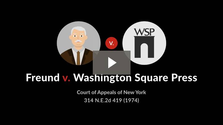 Freund v. Washington Square Press