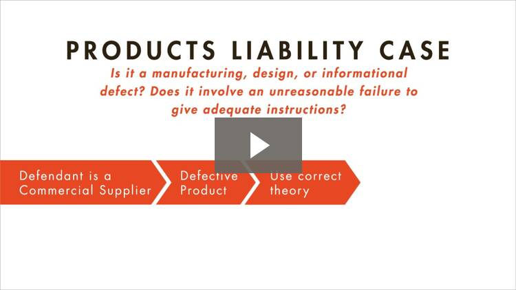 An Overview of Products Liability