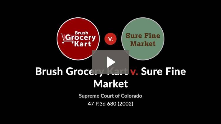 Brush Grocery Kart, Inc. v. Sure Fine Market, Inc.