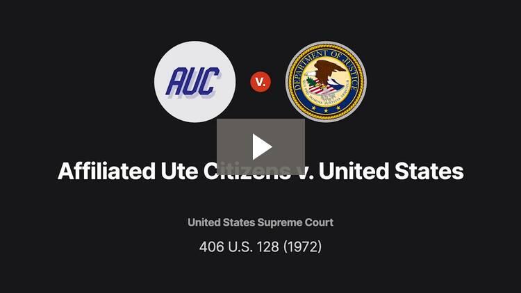 Affiliated Ute Citizens v. United States