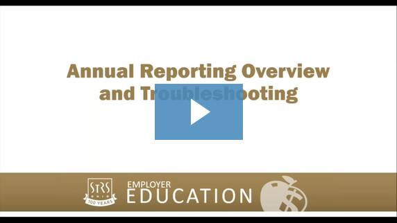 Thumbnail for the 'Annual Reporting Overview and Troubleshooting' video.