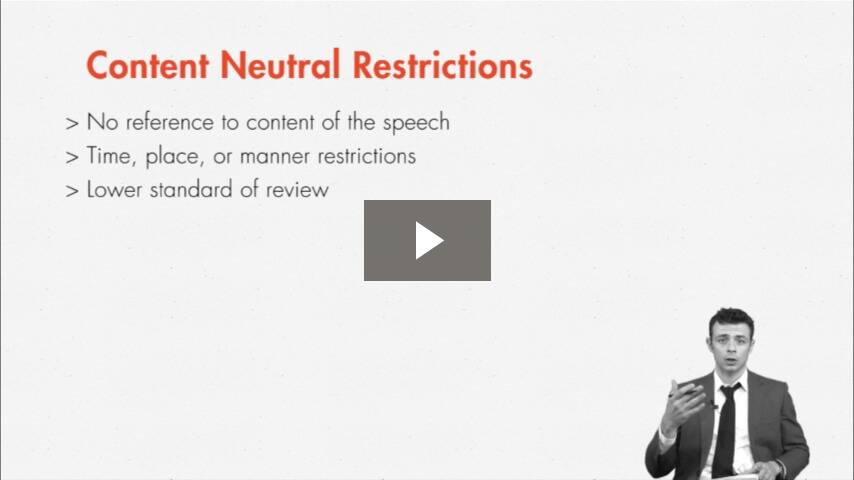Distinguishing Content Based v. Content Neutral Restrictions