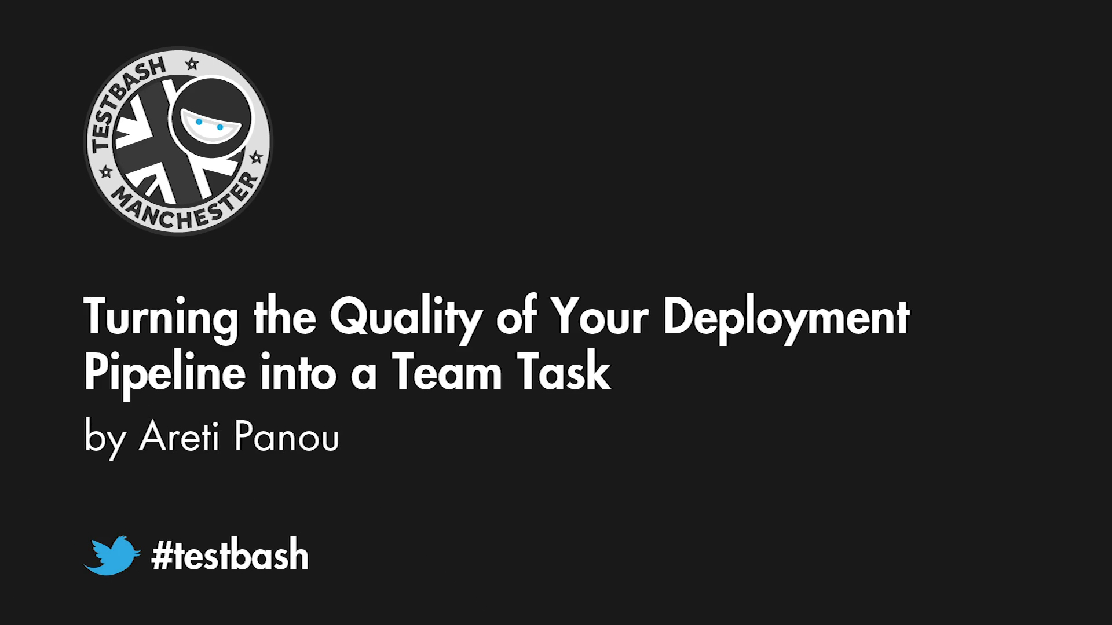 Turning the Quality of Your Deployment Pipeline into a Team Task - Areti Panou
