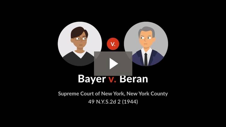 Bayer v. Beran