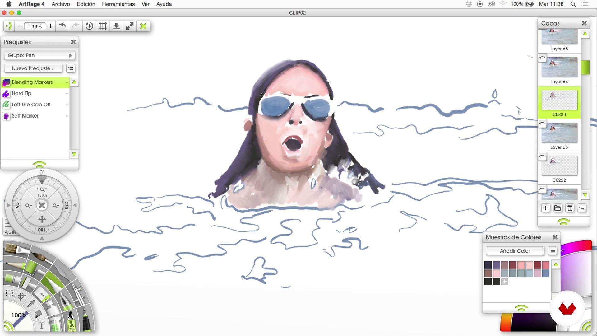 Rotoscopia en dibujo en Art Rage - Parte 4   \