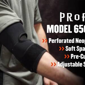 Ergodyne Product Video - ProFlex<sup>®</sup> 655 Neoprene Elbow Sleeve w/ Strap