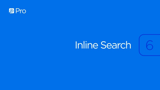 Inline Search