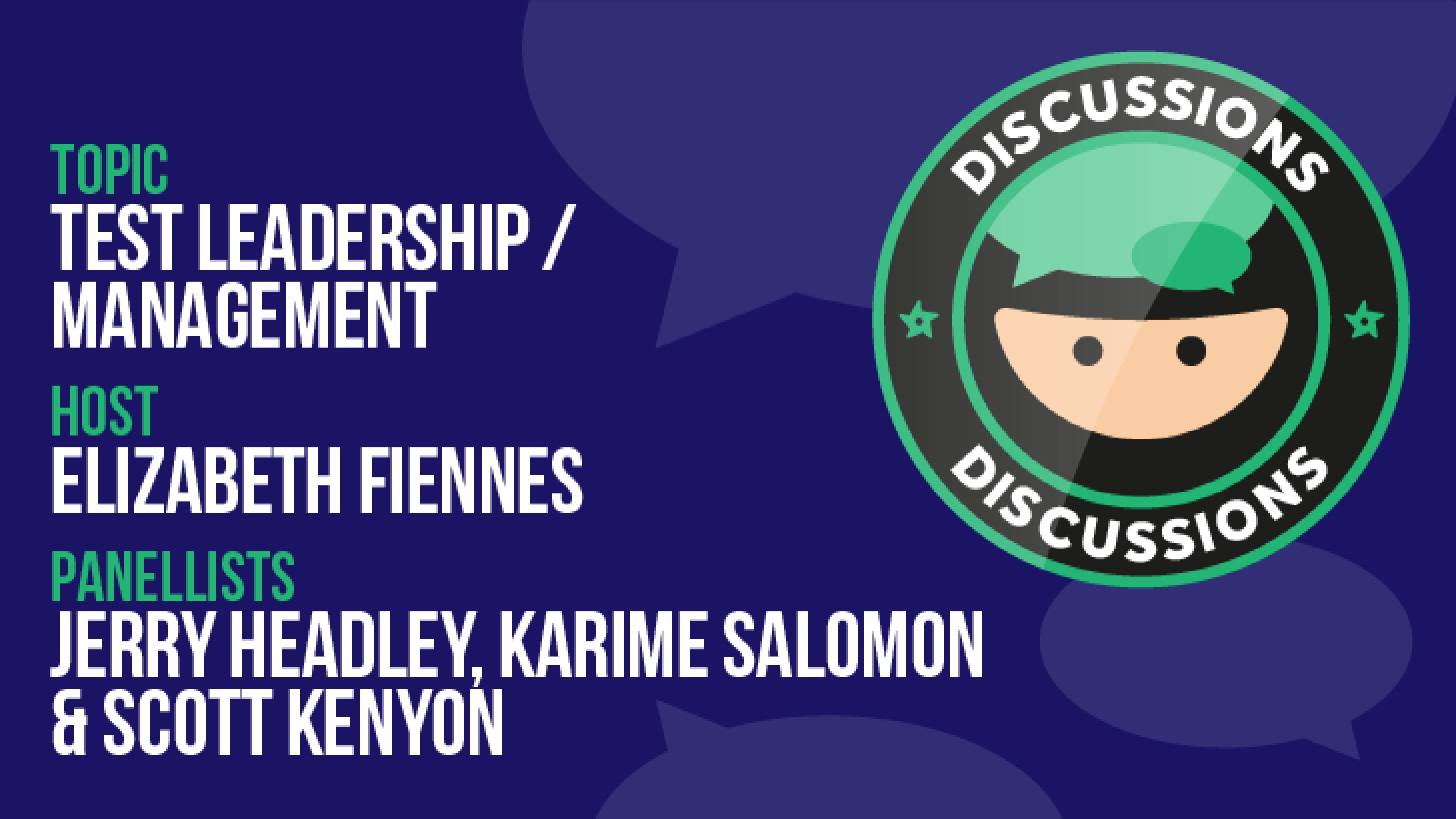 Discussion: Test Leadership/Management
