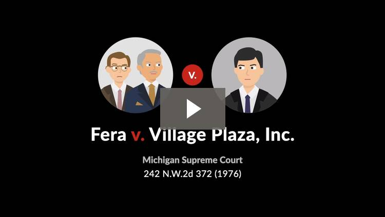 Fera v. Village Plaza, Inc.