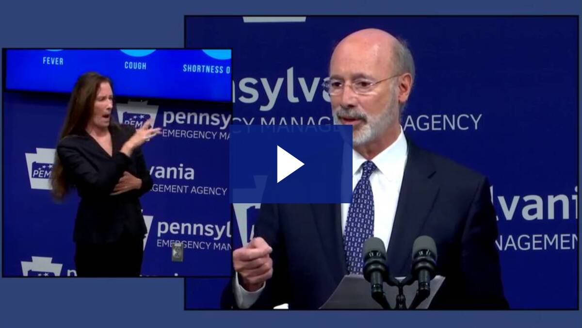 5/29/20 - Question at Governor Wolf News Conference