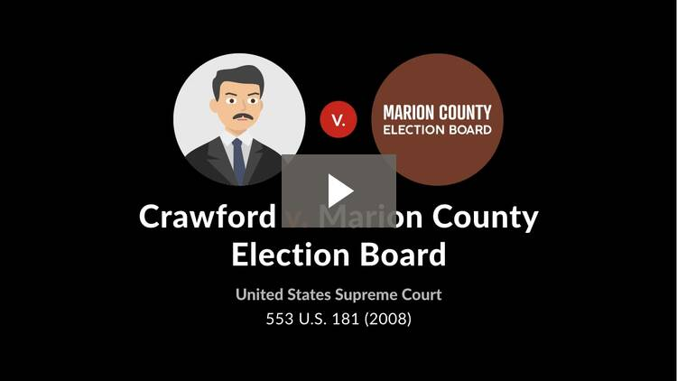 Crawford v. Marion County Election Board