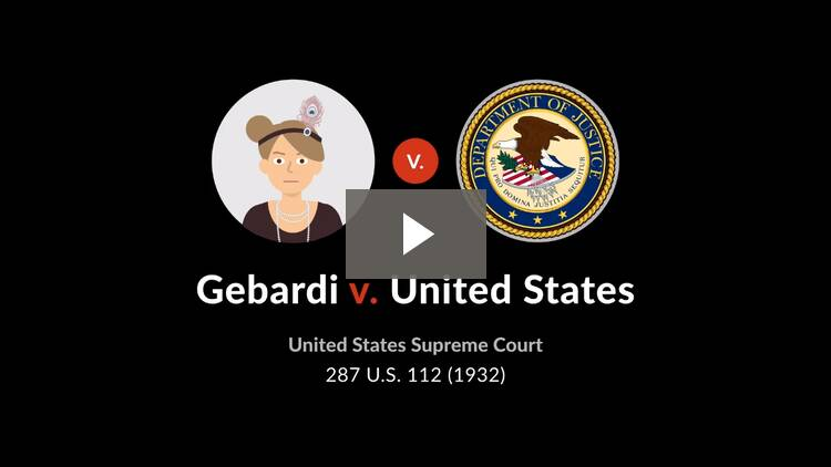 Gebardi v. United States