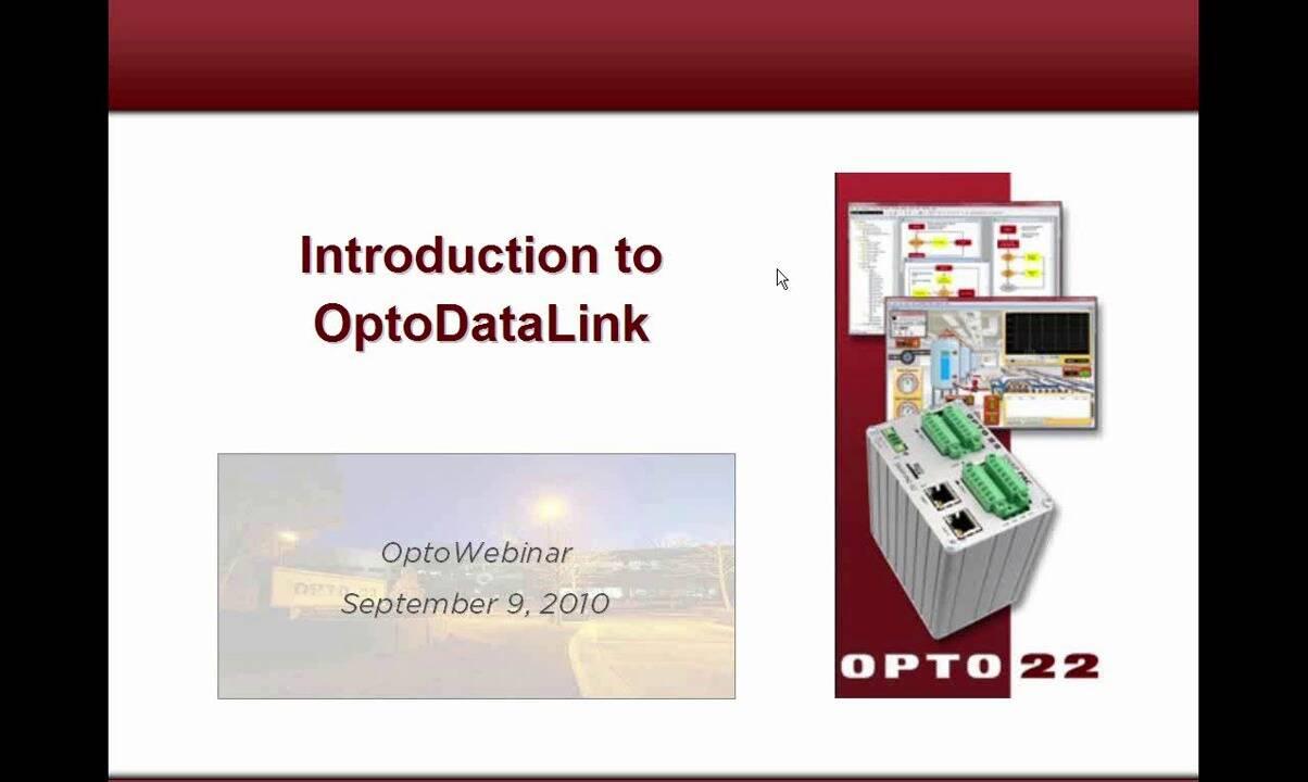 Webinar- Introduction to OptoDataLink