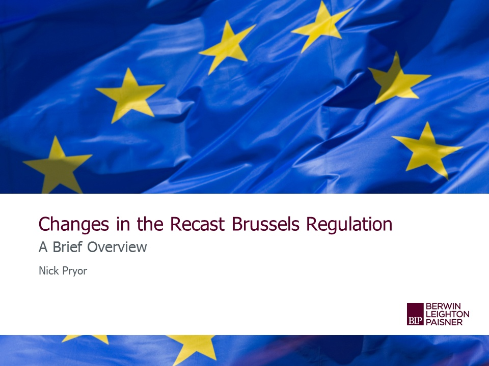 Still image from 'An overview of the Brussels Regulation' video