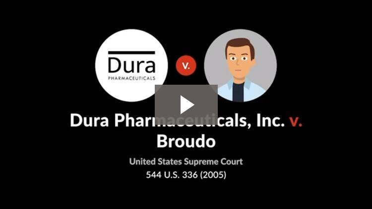 Dura Pharmaceuticals, Inc. v. Michael Broudo