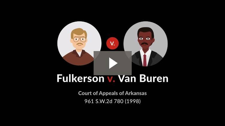 Fulkerson v. Van Buren
