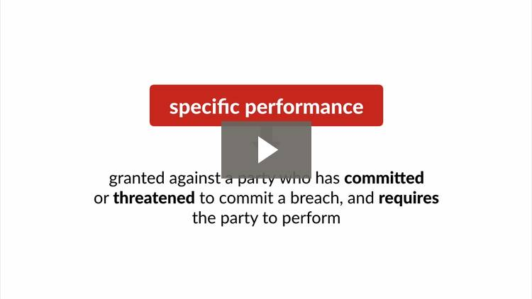 Specific Performance