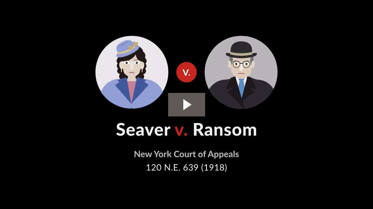 Seaver v. Ransom