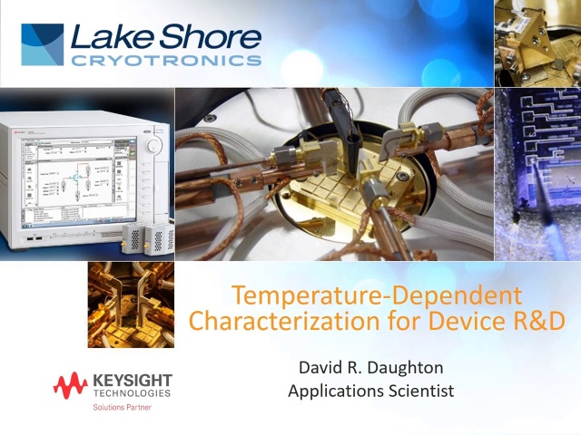 Temperature Dependent Characterization for Device R&D—David Daughton (48:54)