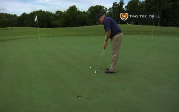 Putting Technique Drills: Tiger Woods Two Tee Practice