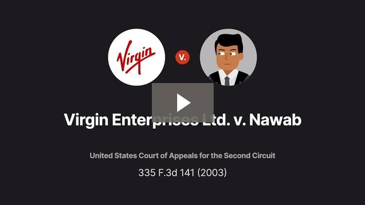 Virgin Enterprises Ltd. v. Nawab