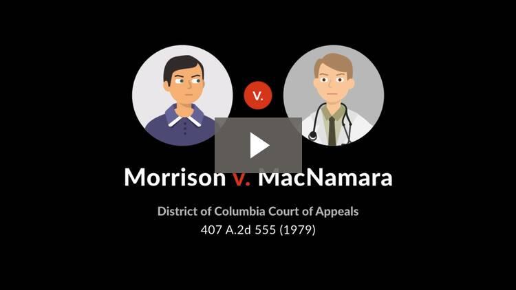 Morrison v. MacNamara