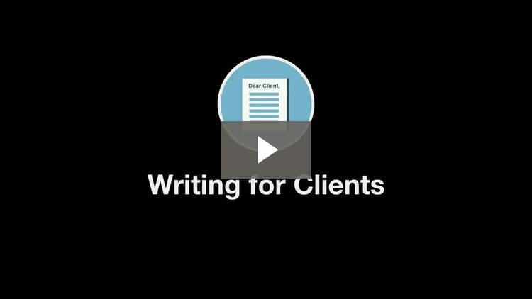 Introduction to Writing for Clients